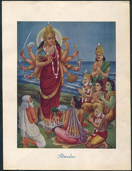 why-did-lord-rama-offered-his-eyes-to-durga
